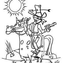 220x220 Horse Rodeo Coloring Pages