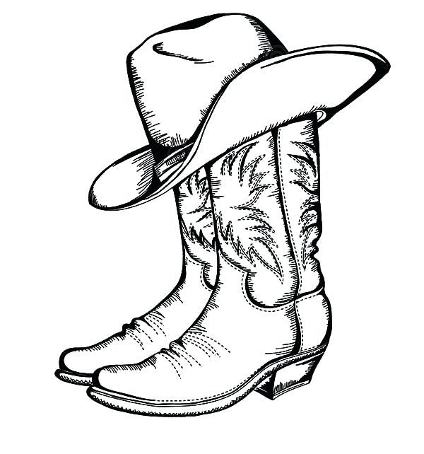 600x642 Cowboy Boot Coloring Page Cowboy Horse Coloring Pages Cowboy Boot