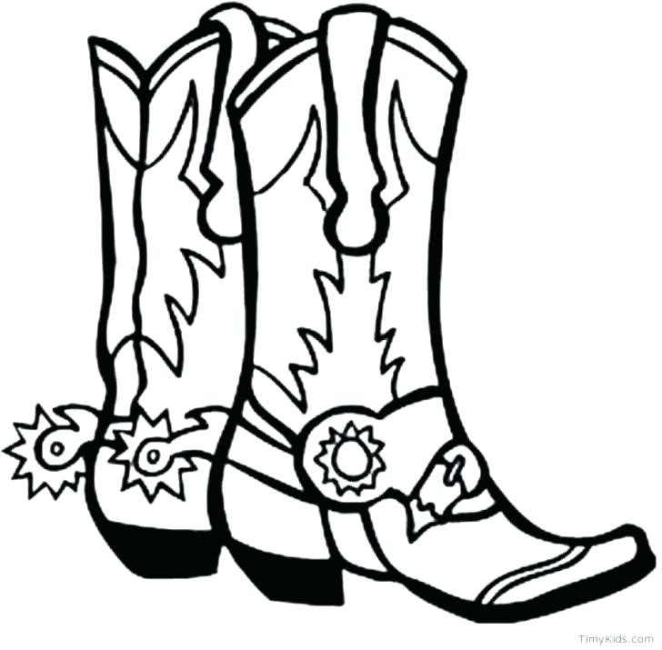 728x715 Cowboy Boots Coloring Page Cowboy Boots Colouring Pages Cowboy