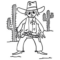 Cowboy Coloring Pages at GetDrawings.com | Free for personal use ...