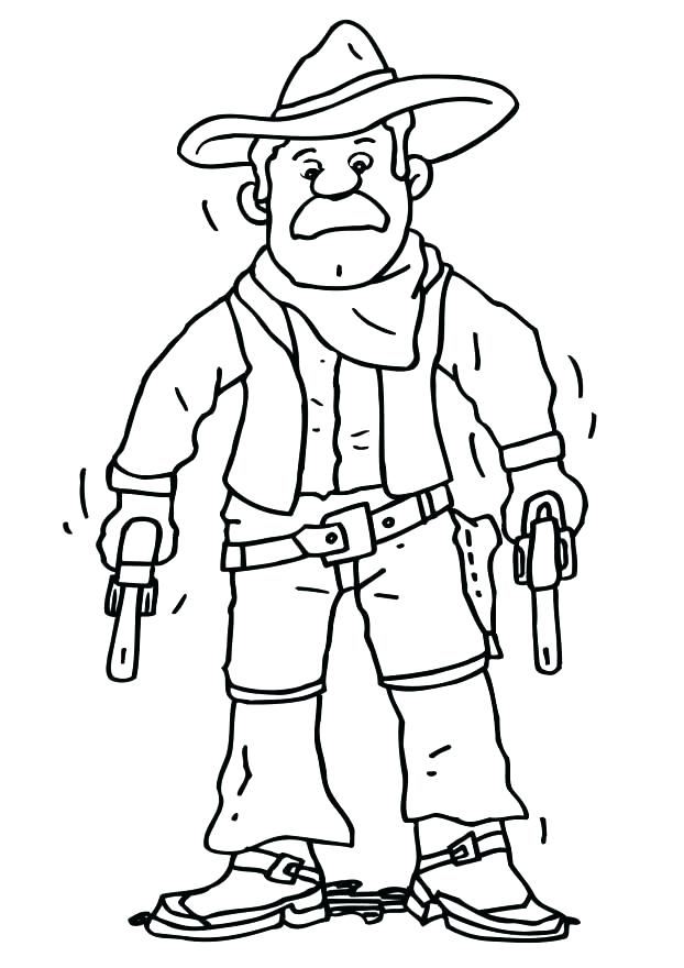 622x880 Cowboy Coloring Pages Printable Cowboy Coloring Book And Free