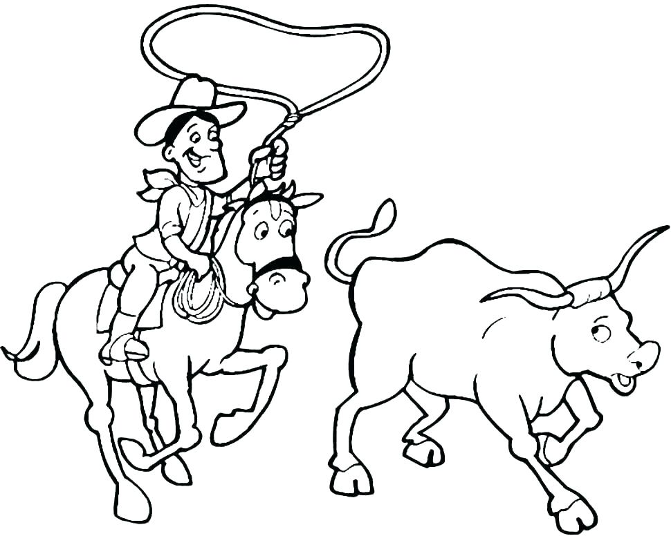 970x776 Cowboy Coloring Pages Printable Cowboy Coloring Pages Free