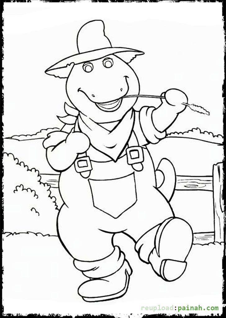 728x1024 Barney Coloring Pages Printable Cowboy Coloring Pages
