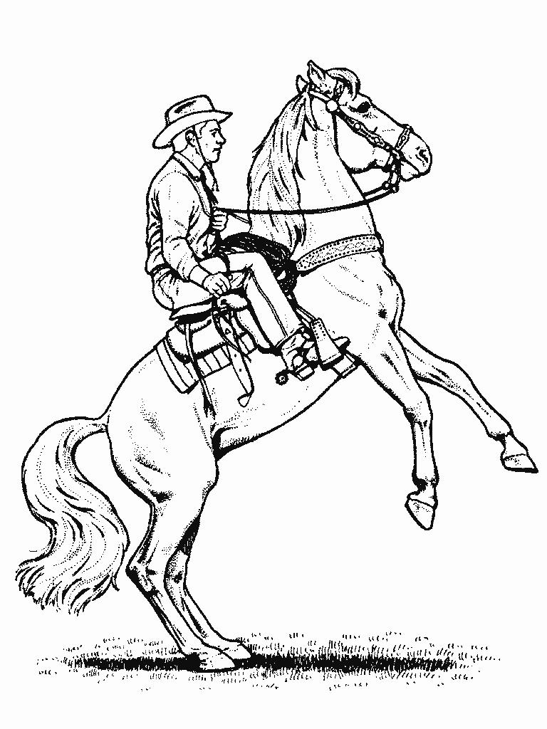 768x1024 Horse And Cowboy Coloring Pages Printable Coloring For Kids