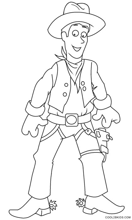 420x700 Printable Cowboy Coloring Pages For Kids