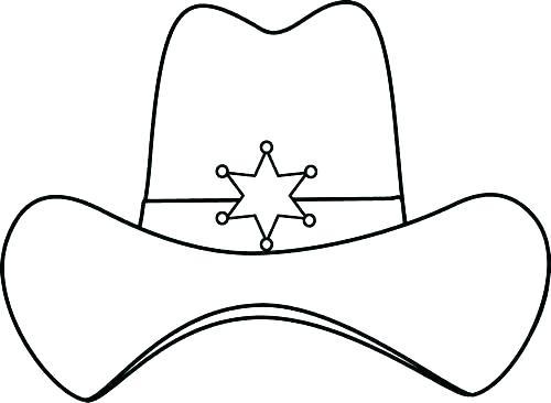 500x366 Cowboy Hat Coloring Pages Cowboy Boot Coloring Page Cowboy Hat