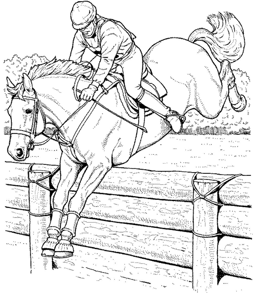 1000x1158 Fortune Race Horse Coloring Pages To Print Collection And Cowboy