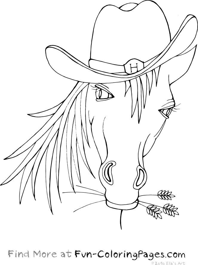 663x886 Funny Horse Coloring Pages