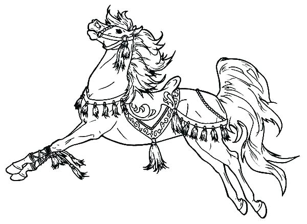 600x438 Horse Color Page Unicorn Horse Coloring Pages Cowboy Info Projects