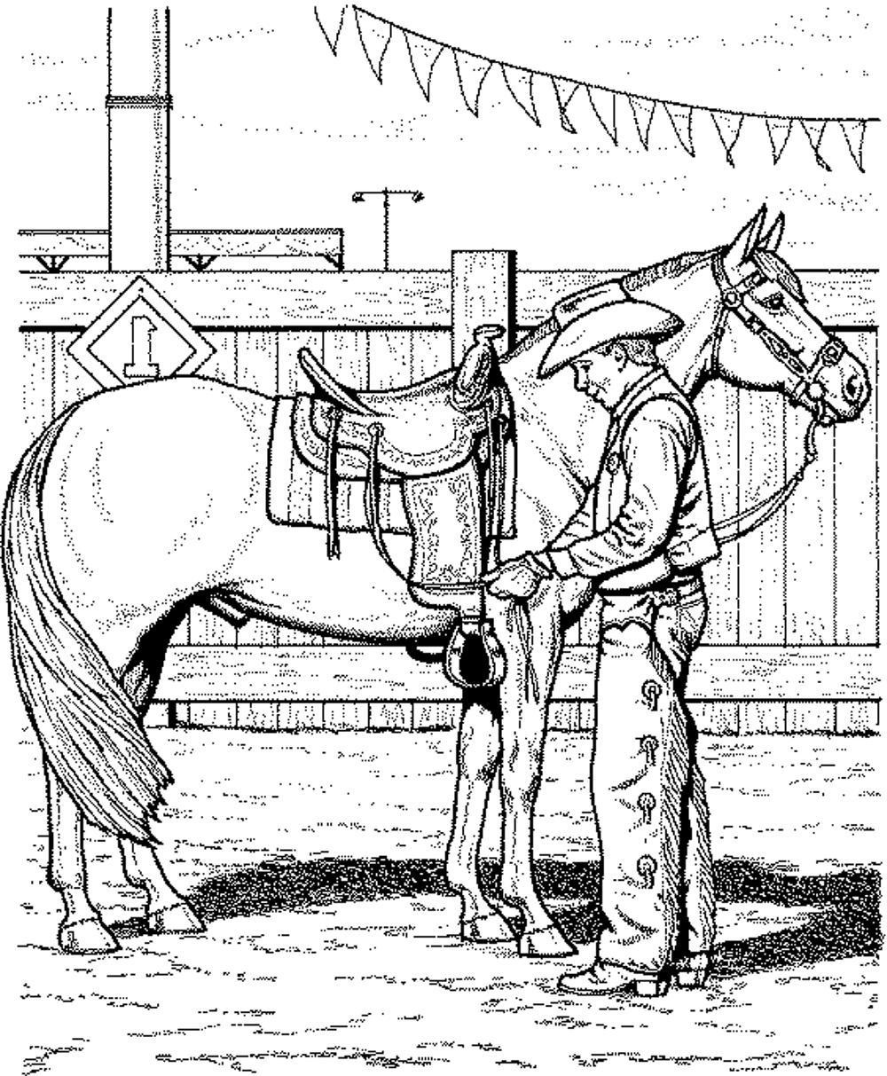1000x1213 Stunning Horse Coloring Pages And Cowboy Coloringstar Image