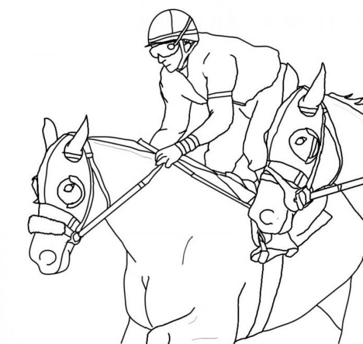 1200x1138 Unusual Race Horse Coloring Pages To Print Cowboy For Kids