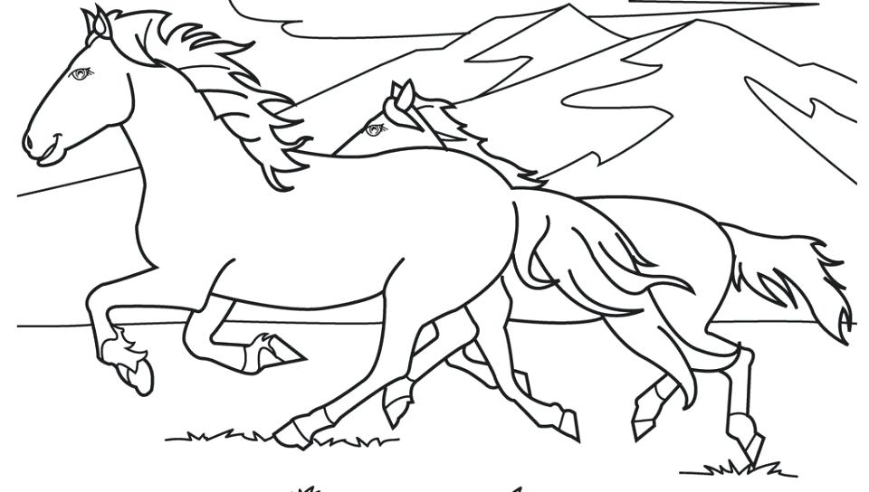 960x544 Wild Horse Coloring Pages Horse Color Page For The Cowboy Lovers