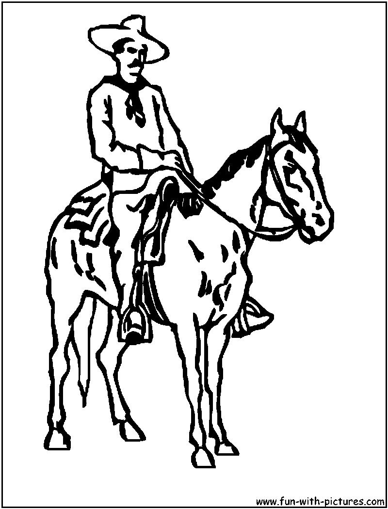 800x1050 Cowboy Coloring Pages