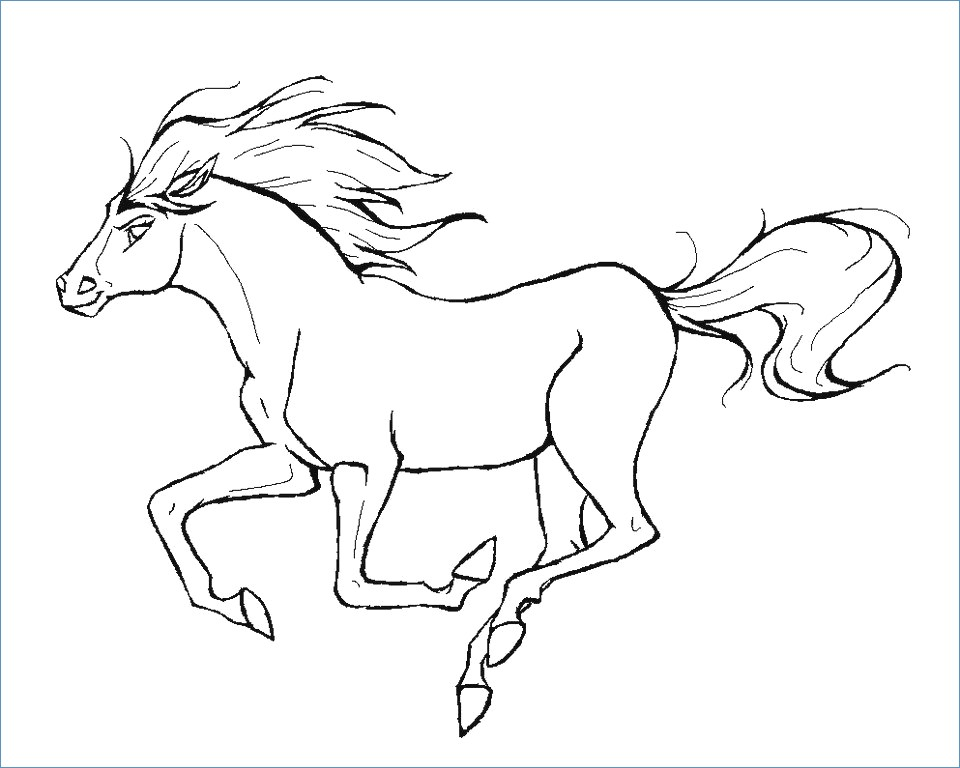 960x768 Cowboy Riding Horse Coloring Page