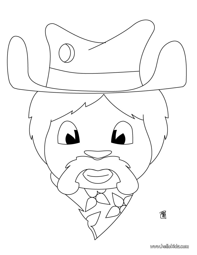 820x1060 Cowboy On Bucking Horse Coloring Pages
