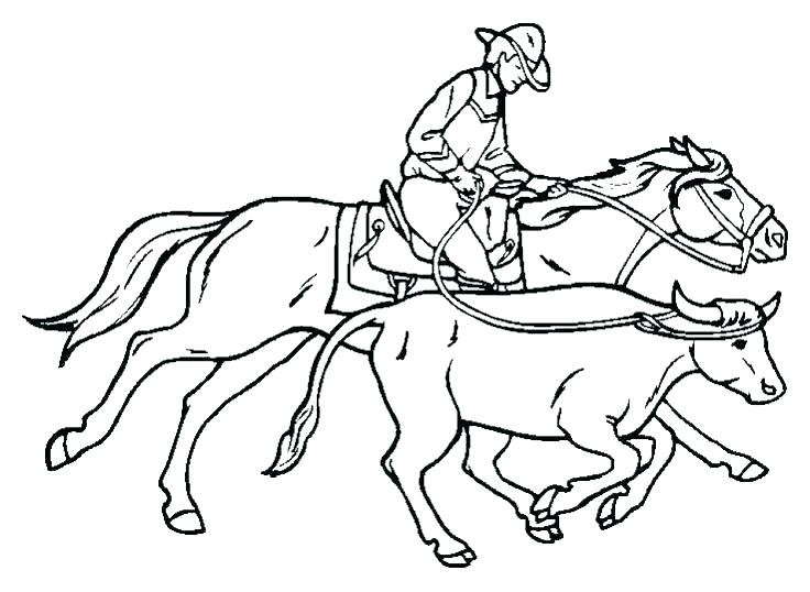 736x538 Western Horse Coloring Pages Professional