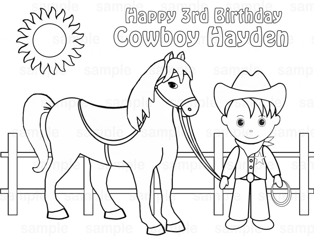 Cowboys Coloring Pages To Print