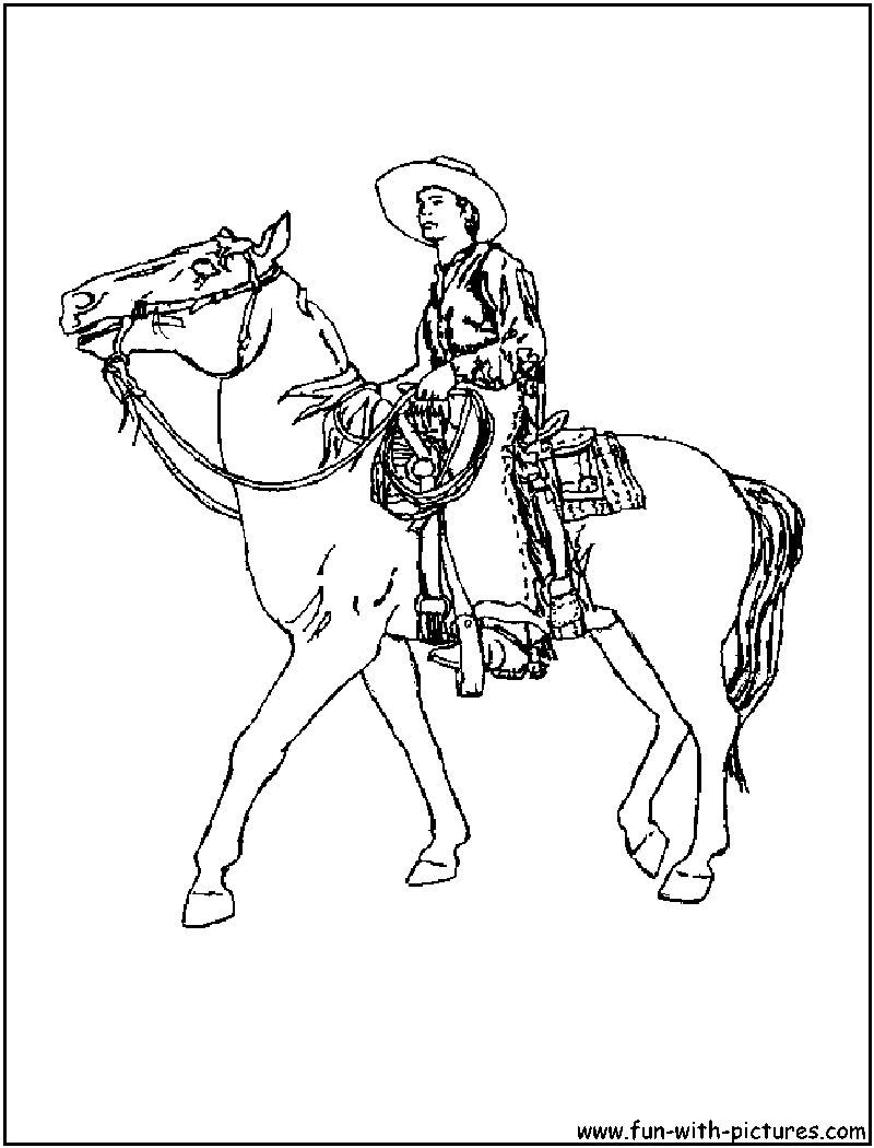800x1050 Cowboy Coloring Pages Printable Colouring For Kids To Print