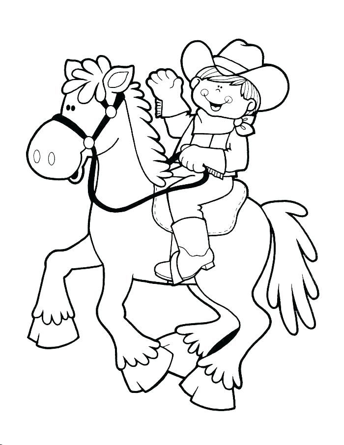 700x906 Cowboy Coloring Pages Printable