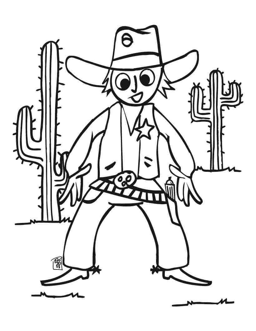 820x1060 Free Printable Cowboy Coloring Pages For Kids At Page Olegratiy