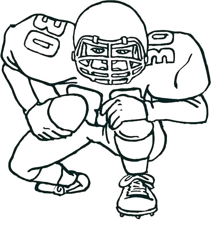 700x796 Football Player Coloring Page Football Player Coloring Pages Best