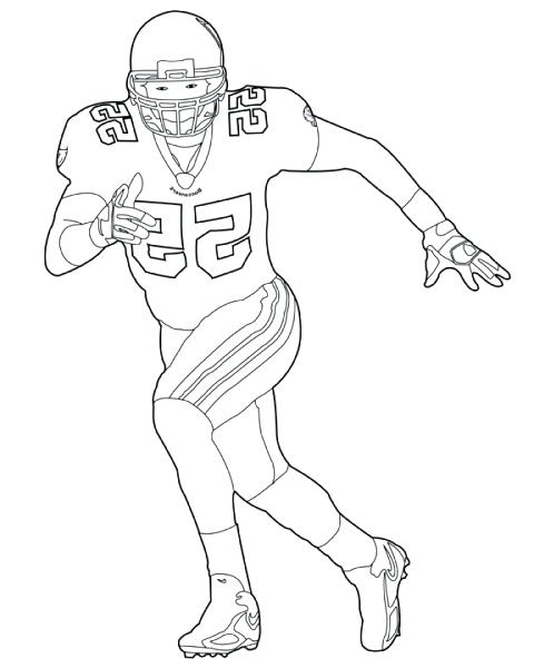 480x600 Football Player Coloring Pages Football Coloring Page High Quality