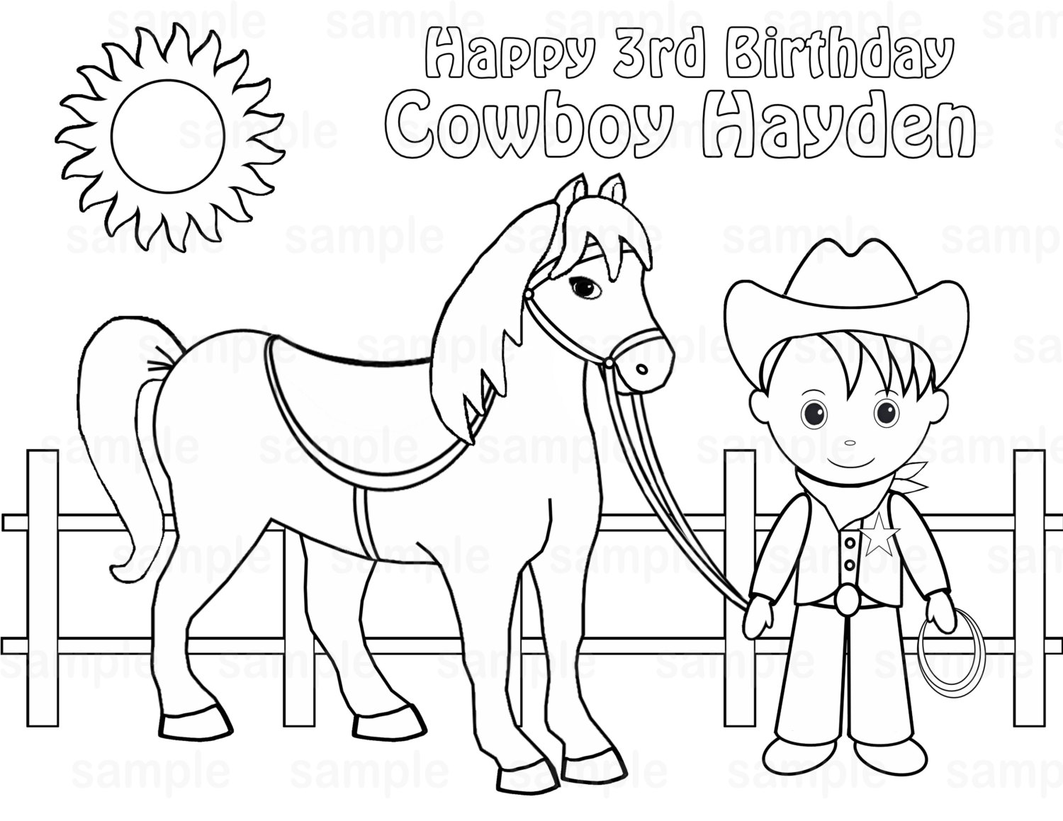 Cowgirl And Horse Coloring Pages At Getdrawings Com Free