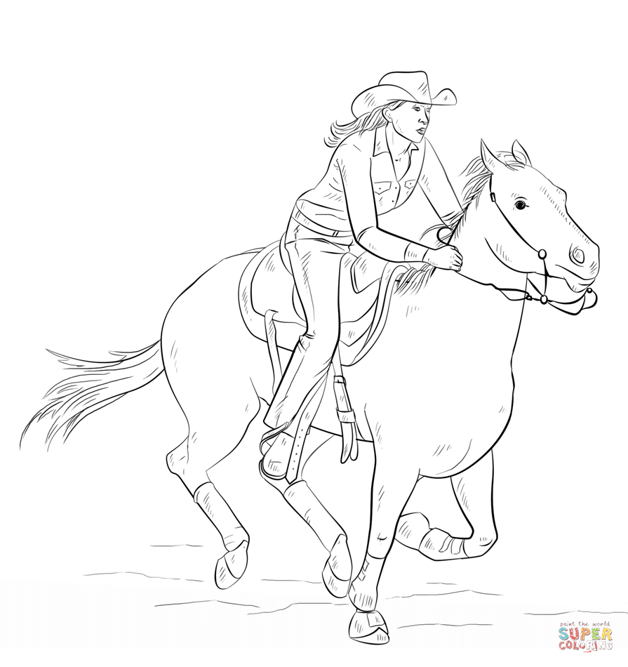 The Best Free Horsesrodeo Coloring Page Images Download