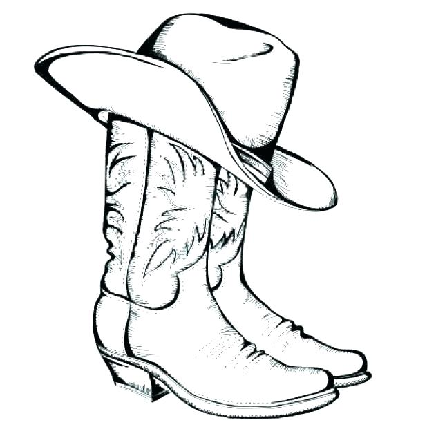 Cowgirl Boots Coloring Pages