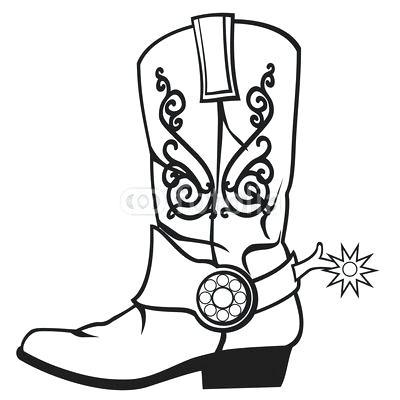 400x400 Cowboy Boots Coloring Pages Cowboy Hat Coloring Page Cowboy Boot