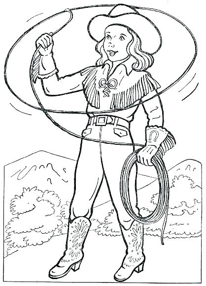 Cowgirl Boots Coloring Pages At Getdrawings Com Free For