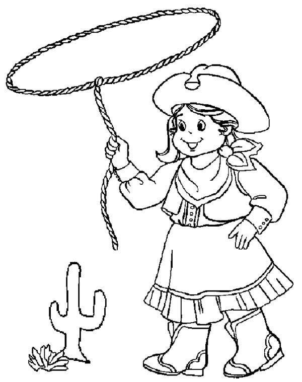Cowgirl Coloring Pages At Getdrawings Com Free For