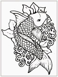 240x320 Free Japanese Koi Fish Coloring Pages For Adult Printables