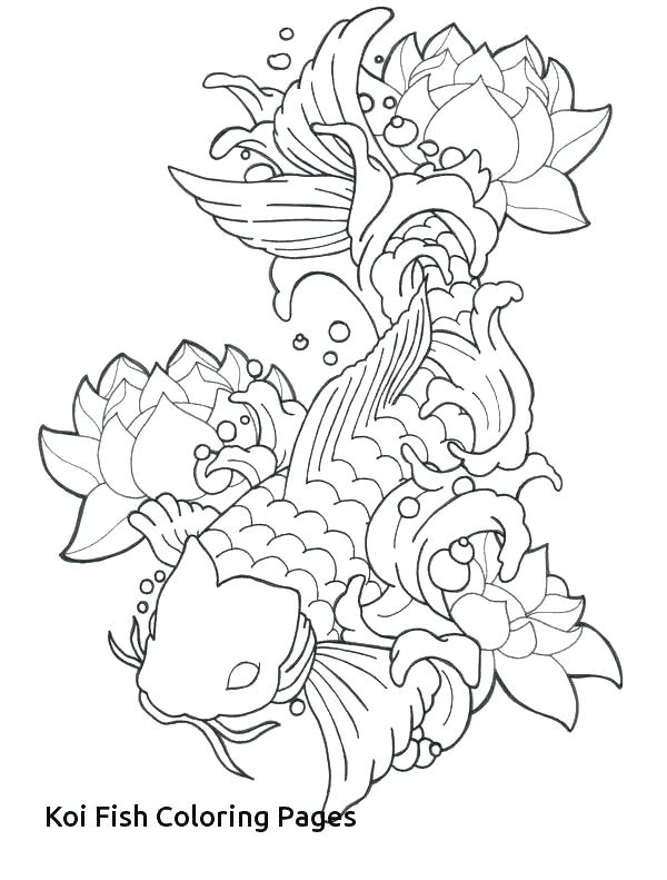 600x791 Coloring Pages Japanese Koi Fish Coloring Pages Art Coloring Pages