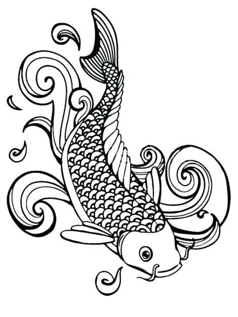 470x626 Koi Fish Outlines
