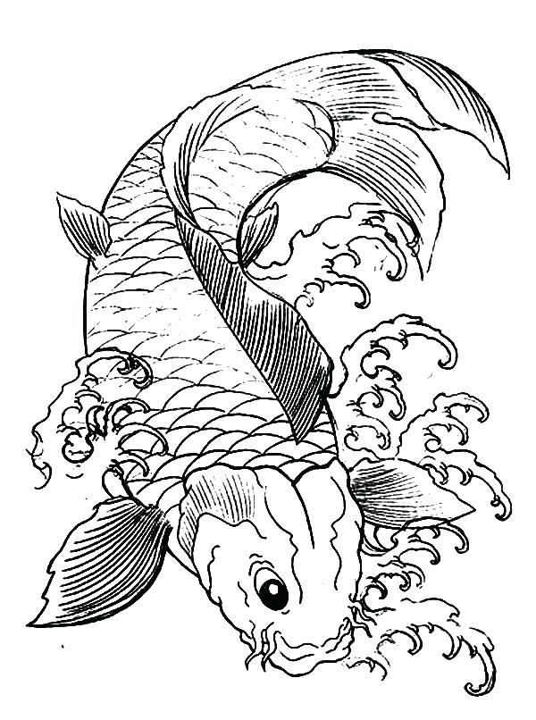 600x806 Fish Coloring Pages Download Print Online Fish Coloring Pages