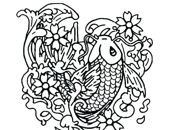 600x450 Fish Coloring Pages Fish Coloring Pages Captivating Fish Coloring