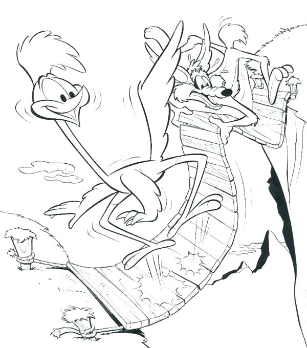 600x680 Coyote Coloring Pages Wile E Coyote Coloring Pages Road Runner