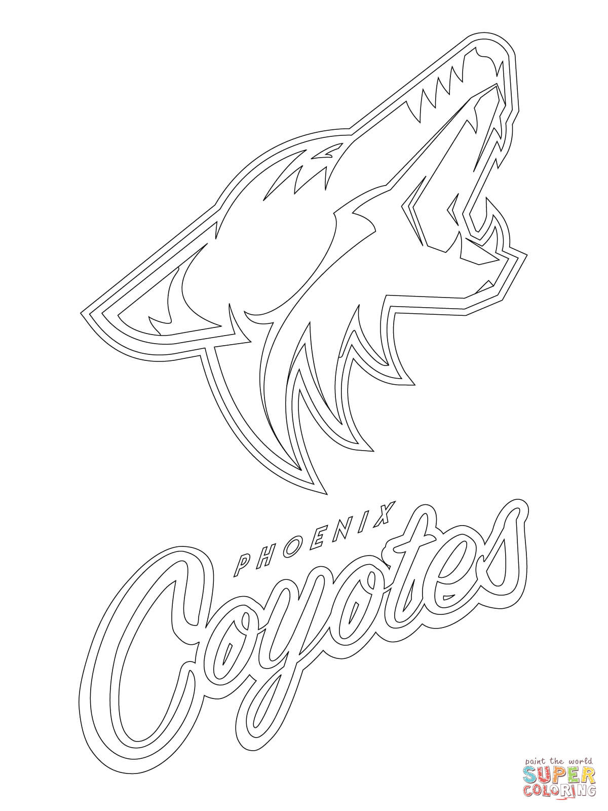 1200x1600 Helpful Coyote Coloring Page Phoenix Coyotes L