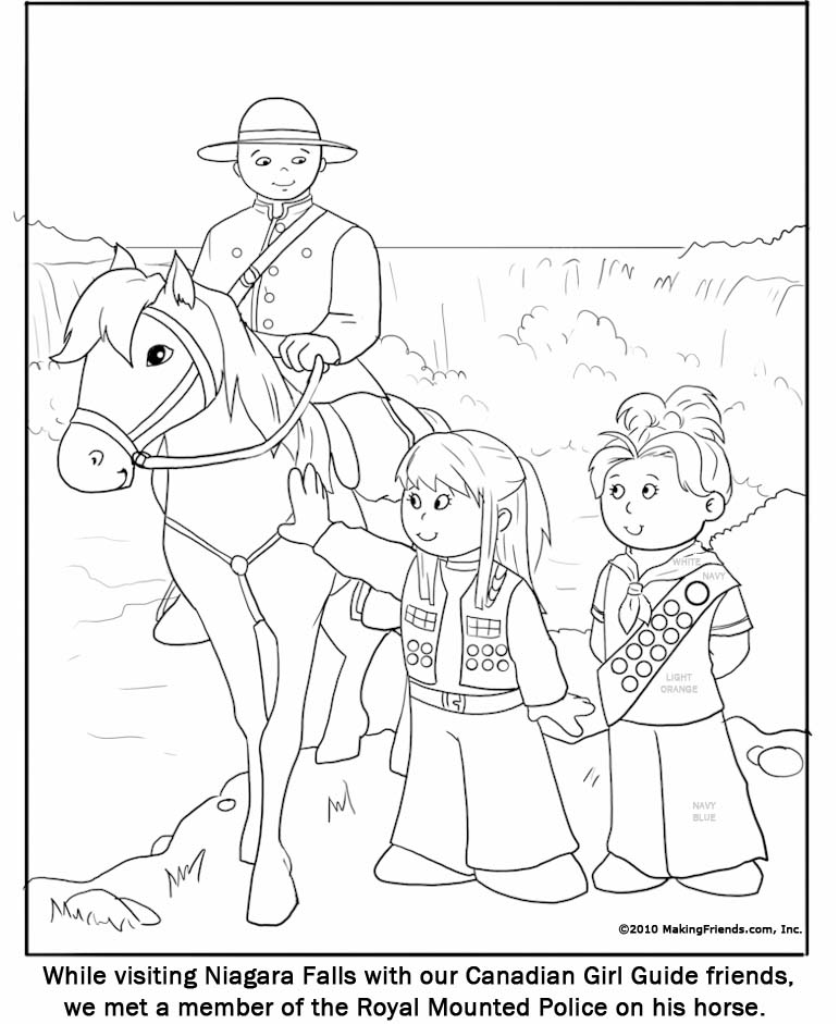 771x941 Canadian Girl Guide Coloring Page