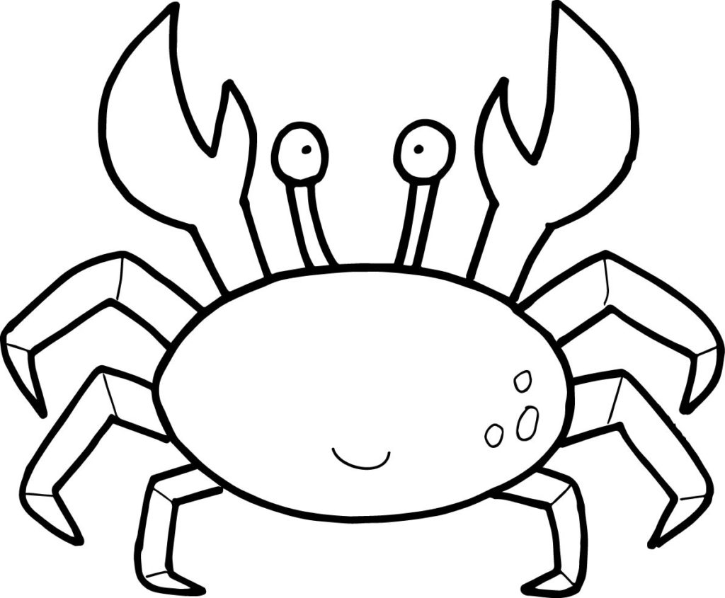 Crab Coloring Pages