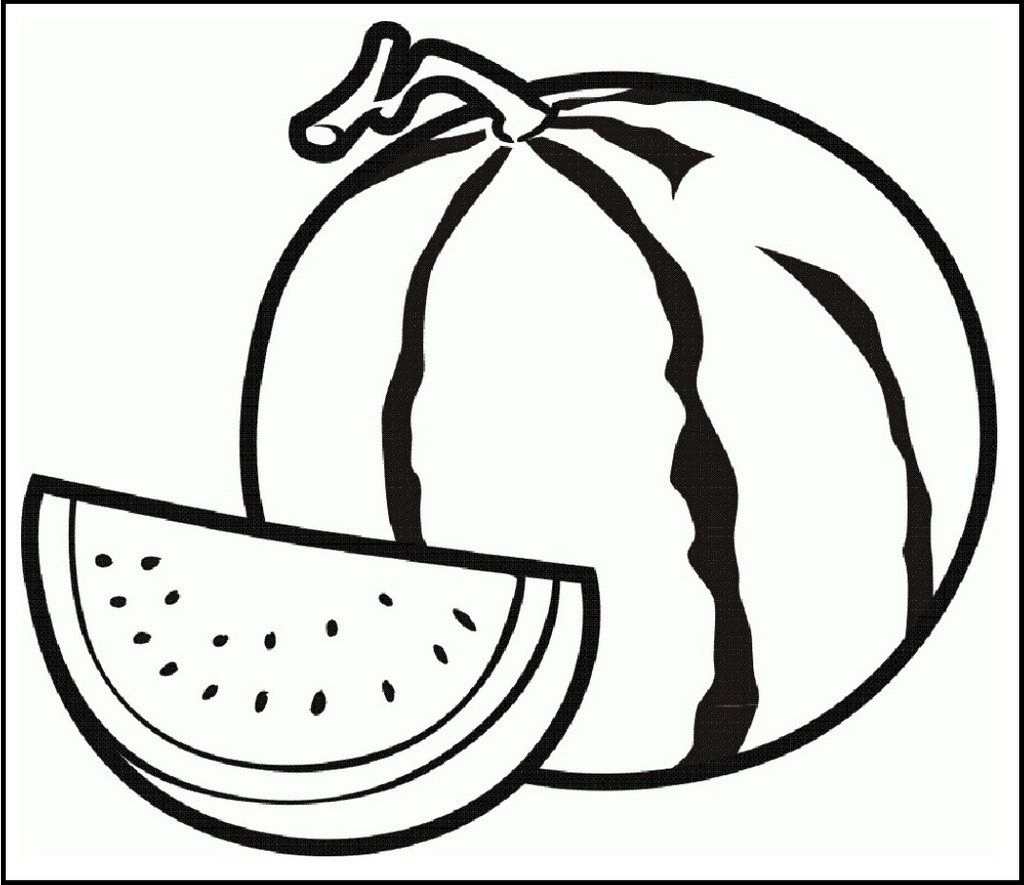 1024x885 Melons Coloring Pages To Print Coloring For Kids