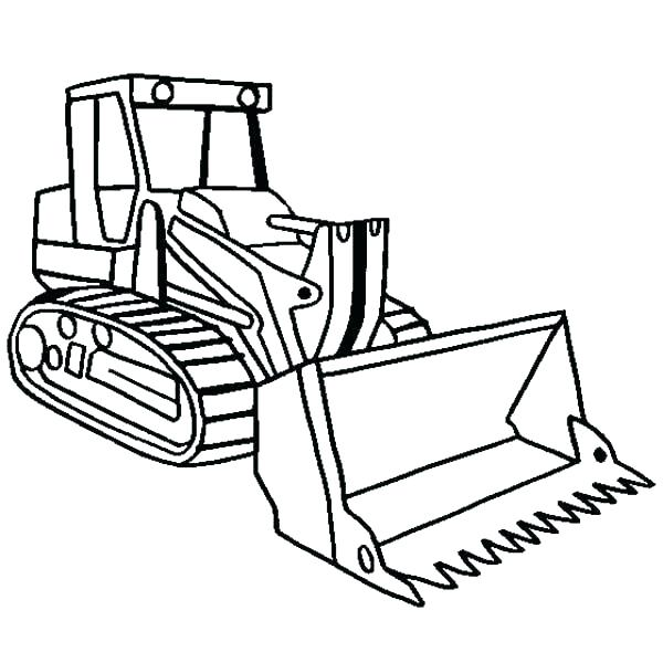 600x600 Bulldozer Coloring Pages Construction Equipment Coloring Pages
