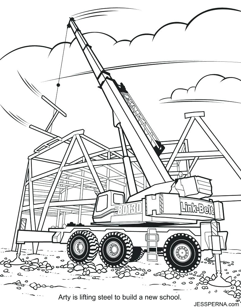 786x1000 Construction Coloring Pages Construction Equipment Coloring Pages