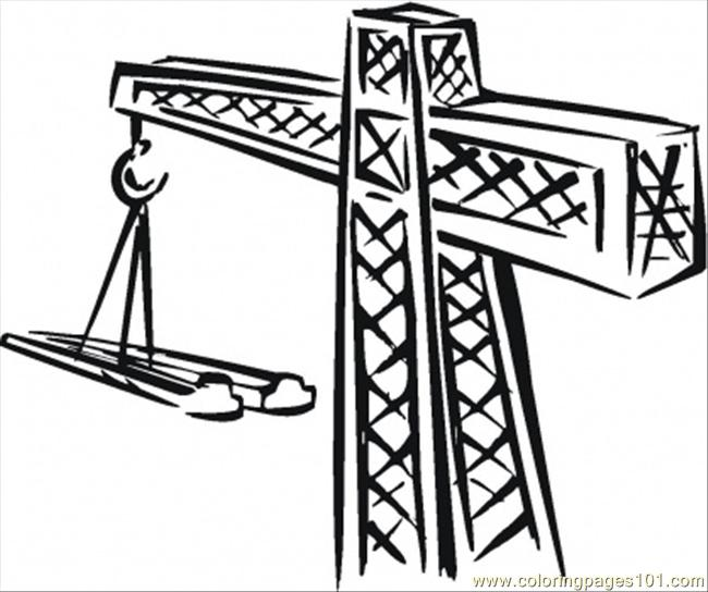 650x544 Crane For Building Coloring Page