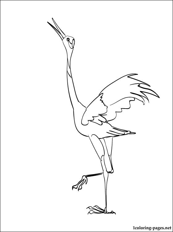 560x750 Crane Coloring Page Coloring Pages