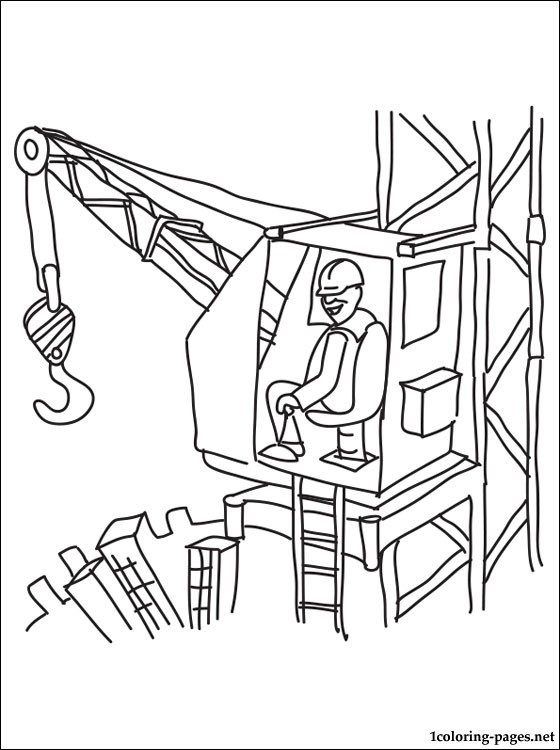 560x750 Crane Operator Coloring Page Coloring Pages