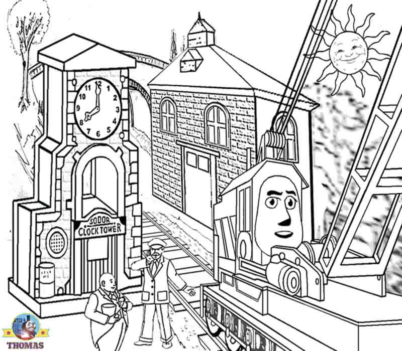 800x700 Printable Thomas The Train Coloring Pages