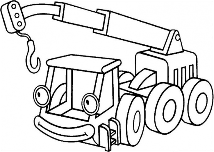 700x499 Bob The Builder Crane Coloring Pages Download Free Printable