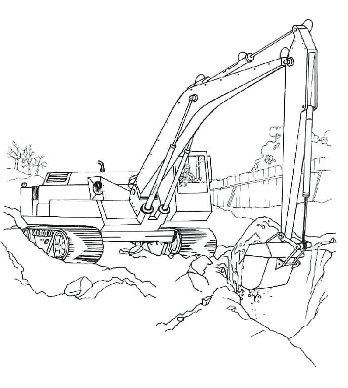 687x766 Bulldozer Coloring Pages Bulldozer Coloring Pages Construction